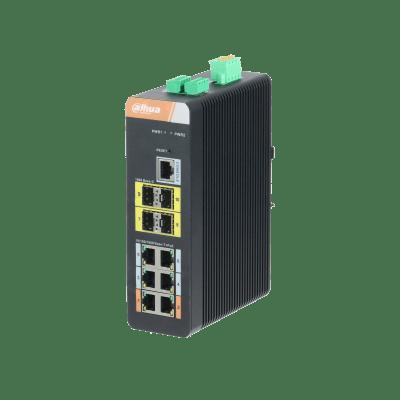 Dahua Technology PFS4410-6GT-DP 10-Port Gigabit Industrial Swicth With 6-Port Gigabit PoE (Managed)