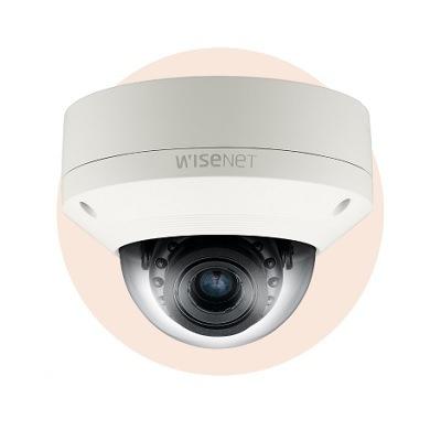 Hanwha Techwin America SNV-5084R 1.3Megapixel HD Vandal-Resistant Network IR Dome Camera