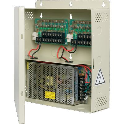TruVision TVPS-16-12DC power supply with dual-fuse protection