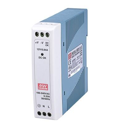VIVOTEK MDR-10-5 10W Single Output Industrial DIN Rail Power Supply