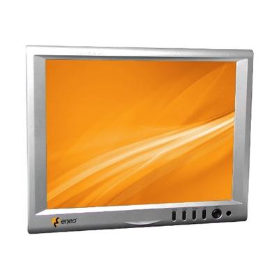 "eneo VMC-8LCD-CP01B 8.0"" (20.3cm) LCD Monitor, 1024x768, 12VDC, Pedestal, Silvergrey"