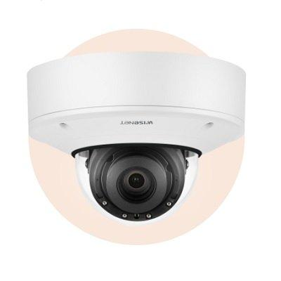 Hanwha Techwin XNV-8082R 6MP Vandal-Resistant IR Outdoor Network Dome Camera