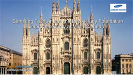 Enzo Hruby Foundation & Samsung improves Milan Cathedral Security with HD Video Surveillance System