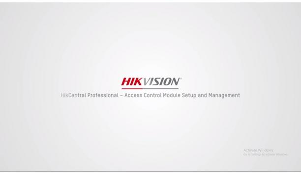 HikCentral Professional – Access Control Module Setup and Management