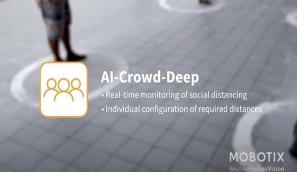 MOBOTIX 7 App: AI Crowd Deep Social Distancing
