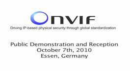 ONVIF Plugfest At Security Essen 2010