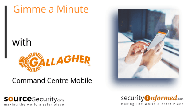 Command Centre Mobile: 'Gimme a Minute' video challenge with Gallagher