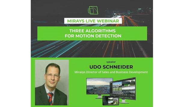 Mirasys To Host A Webinar On Three Algorithms For Motion Detection